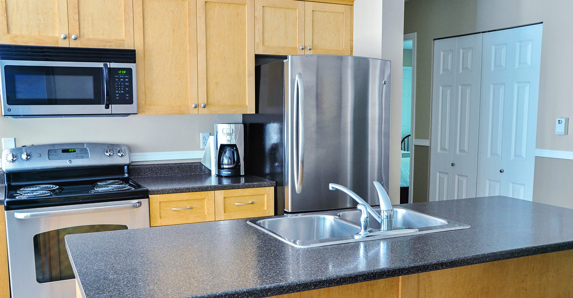 Kitchen in condo at Ocean Trails Resort