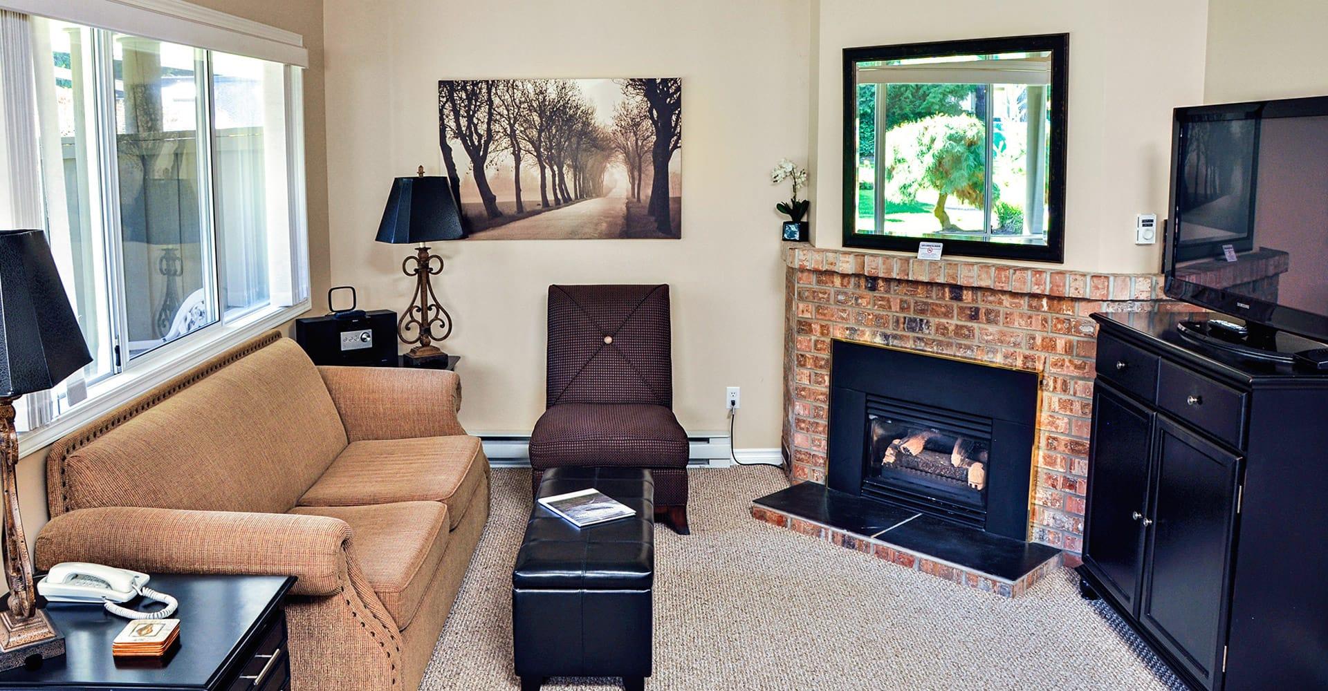 Living area in condo at Ocean Trails Resort