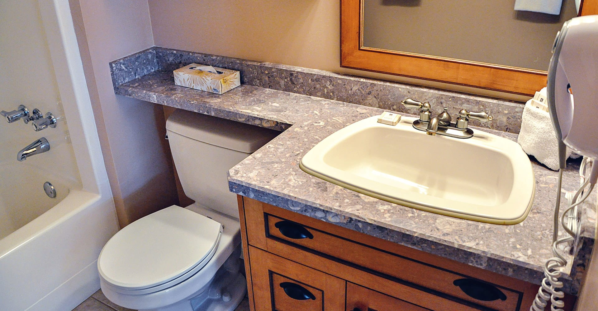Bathroom in condo at Ocean Trails Resort
