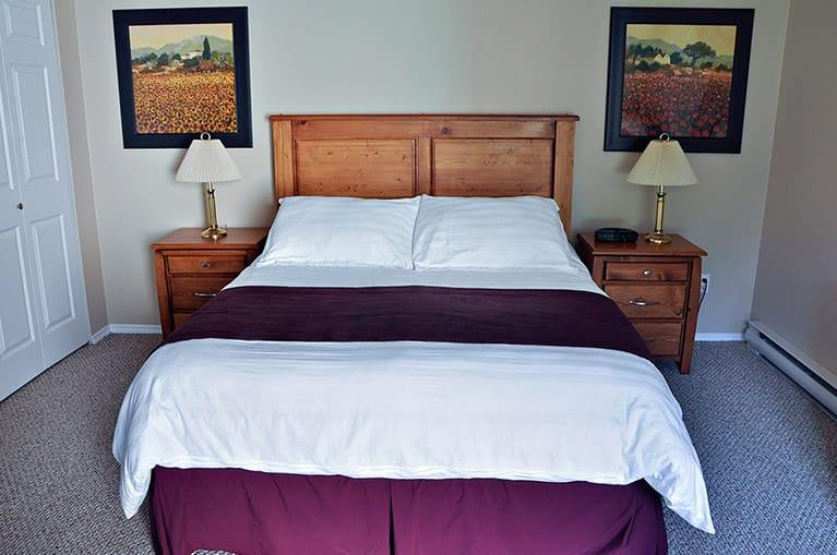 Bedroom in condo at Ocean Trails Resort