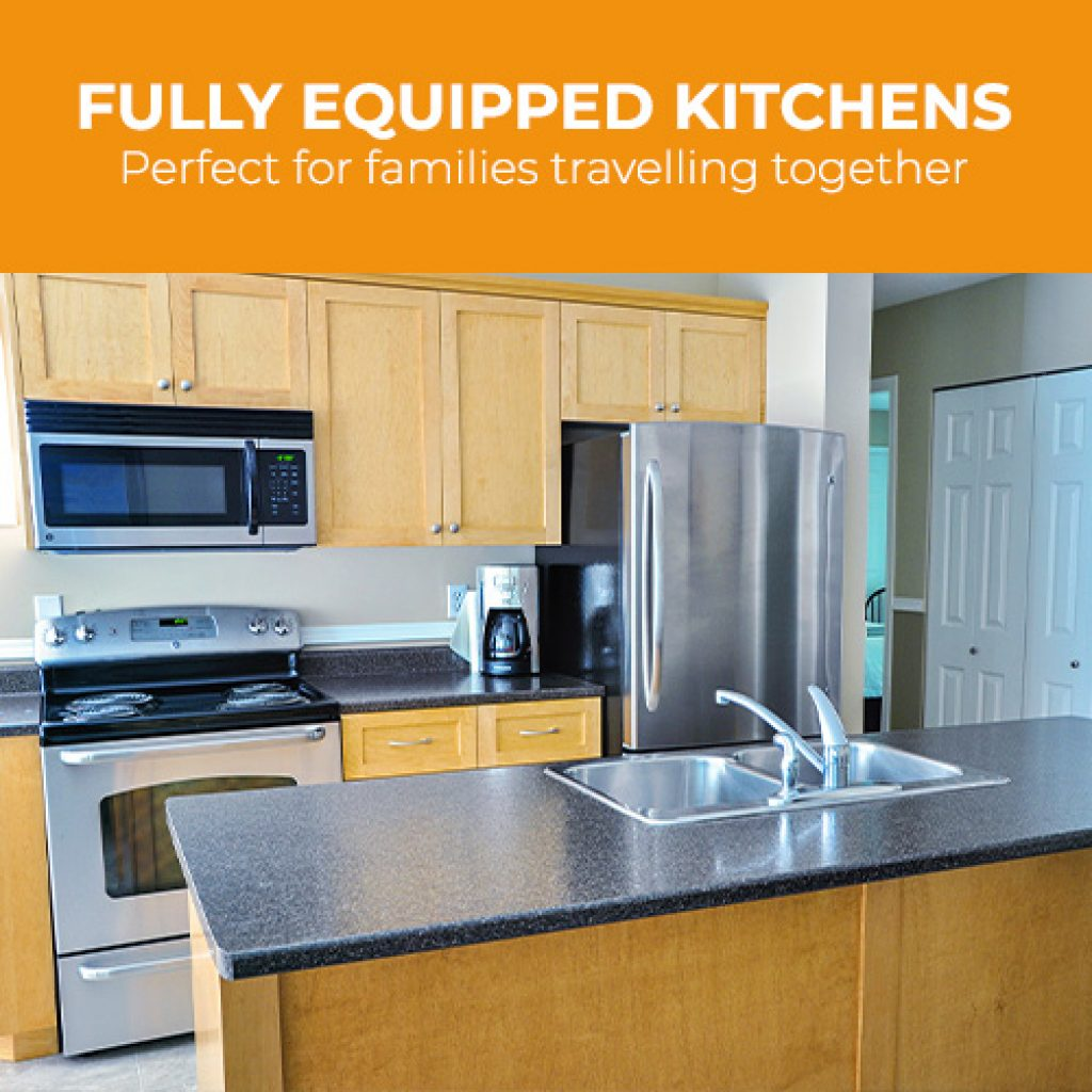 Fully equipped kitchens at Ocean Trails Resort