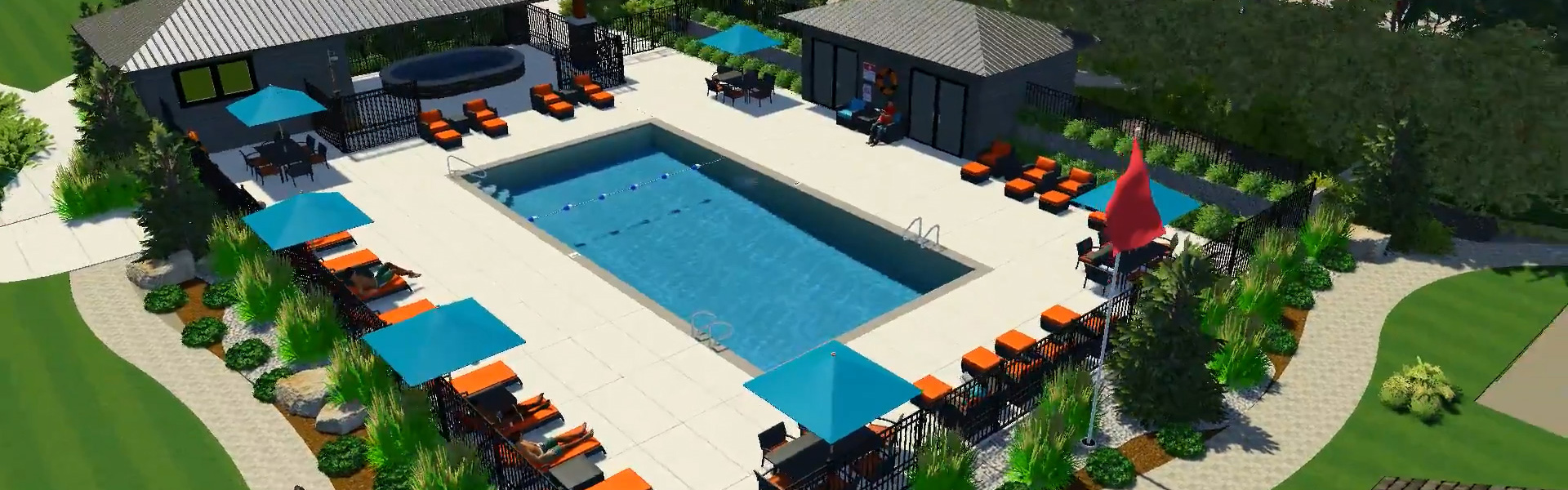 Rendering of the new pool at Ocean Trails Resort